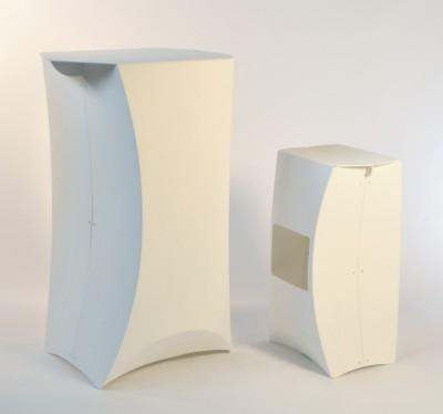 sgabello origami - allestimento