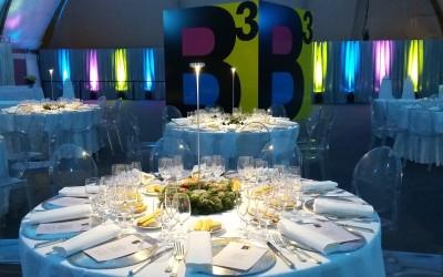 Un'atmosfera elegante per la festa aziendale di BCUBE